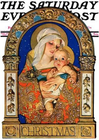 """Madonna and Child,"" Saturday Evening Post Cover, December 24, 1927"