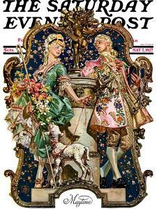 """""""Maytime,"""" Saturday Evening Post Cover, May 7, 1927 by Joseph Christian Leyendecker"""