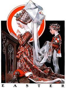 """Medieval Easter,""April 19, 1924 by Joseph Christian Leyendecker"