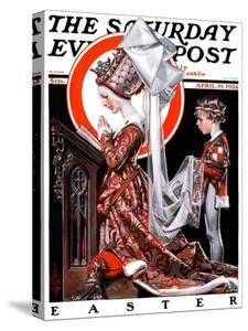 """""""Medieval Easter,"""" Saturday Evening Post Cover, April 19, 1924 by Joseph Christian Leyendecker"""