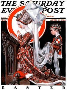 """Medieval Easter,"" Saturday Evening Post Cover, April 19, 1924 by Joseph Christian Leyendecker"