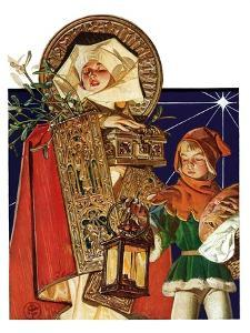 """Medieval Merry Christmas,""December 25, 1926 by Joseph Christian Leyendecker"