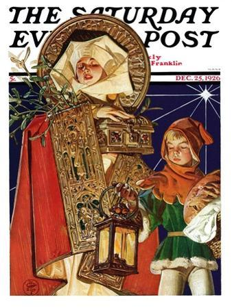 """Medieval Merry Christmas,"" Saturday Evening Post Cover, December 25, 1926"