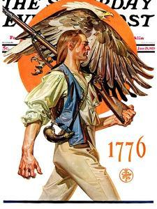 """Minute Man,"" Saturday Evening Post Cover, June 29, 1929 by Joseph Christian Leyendecker"