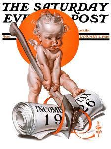 """""""No New Taxes,"""" Saturday Evening Post Cover, January 2, 1926 by Joseph Christian Leyendecker"""
