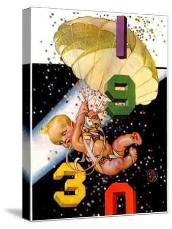 """Parachuting Baby New Year,""December 28, 1929"