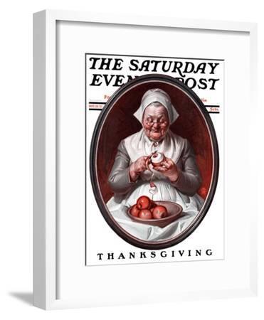 """Peeling Apples,"" Saturday Evening Post Cover, November 28, 1925"