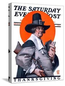 """Pilgrim,"" Saturday Evening Post Cover, November 29, 1924 by Joseph Christian Leyendecker"