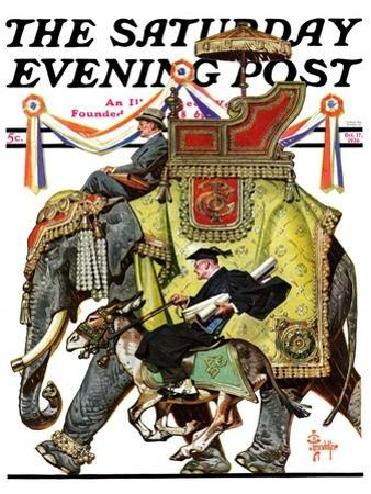 """""""Political Party Symbols,"""" Saturday Evening Post Cover, October 17, 1936 by Joseph Christian Leyendecker"""