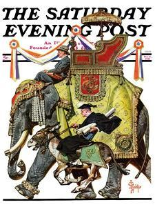 """Political Party Symbols,"" Saturday Evening Post Cover, October 17, 1936 by Joseph Christian Leyendecker"