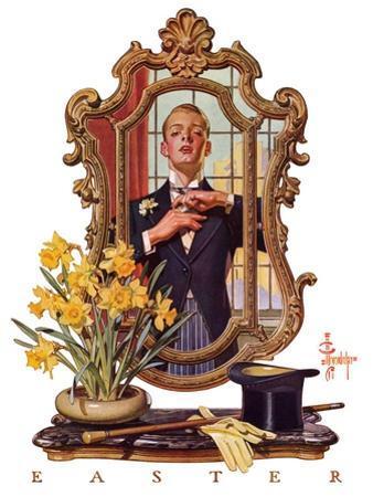 """Primping in Mirror,""April 11, 1936"