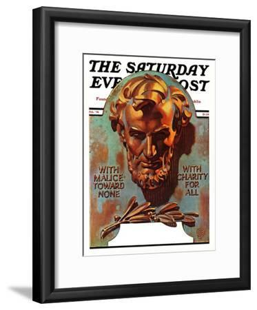 """Re -print of ""Bronze Lincoln"","" Saturday Evening Post Cover, February 1, 1976"