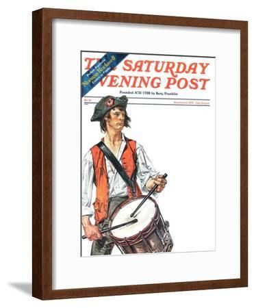"""Re-print of ""Colonial Drummer"","" Saturday Evening Post Cover, July/Aug 1976"