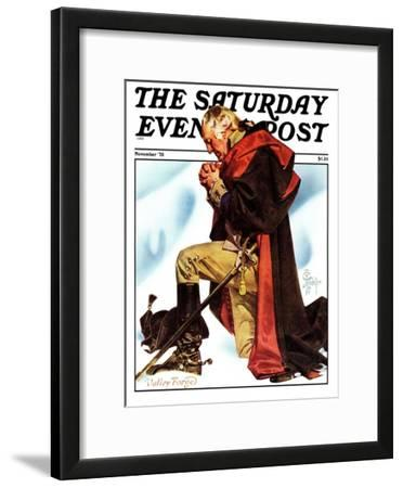 """""""Re-print of """"George Washington at Valley Forge"""","""" Saturday Evening Post Cover, November 1, 1975"""