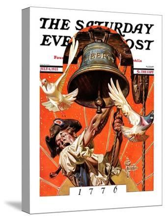 """Ringing Liberty Bell,"" Saturday Evening Post Cover, July 6, 1935"