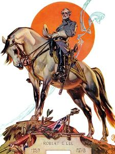 """Robert E. Lee on Traveler,"" January 20, 1940 by Joseph Christian Leyendecker"