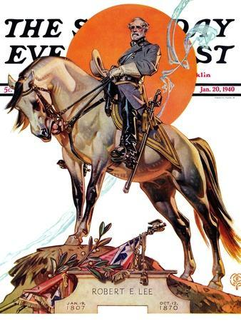 """Robert E. Lee on Traveler,"" Saturday Evening Post Cover, January 20, 1940"