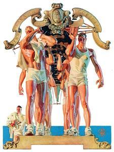 """Rowing Team,""August 6, 1932 by Joseph Christian Leyendecker"