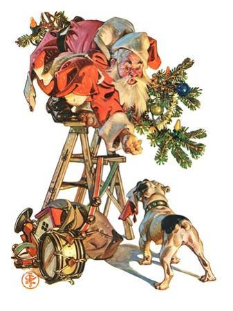 """""""Santa Up a Ladder,""""December 20, 1930"""