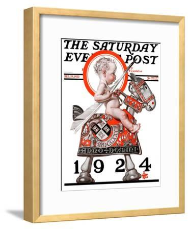 """""""Sir Baby New Year,"""" Saturday Evening Post Cover, December 29, 1923"""