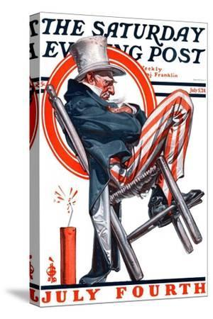 """Sleeping Uncle Sam,"" Saturday Evening Post Cover, July 5, 1924"