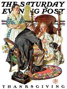 """Sore Throat,"" Saturday Evening Post Cover, November 22, 1930 by Joseph Christian Leyendecker"