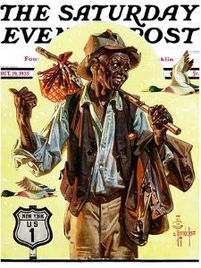 """Southbound Hitchhiker,"" Saturday Evening Post Cover, October 19, 1935 by Joseph Christian Leyendecker"