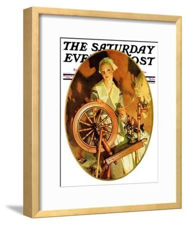 """Spinning Wheel,"" Saturday Evening Post Cover, March 14, 1931"