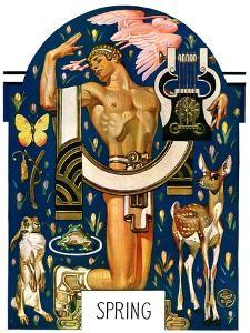 """Spring 1929,""March 30, 1929 by Joseph Christian Leyendecker"