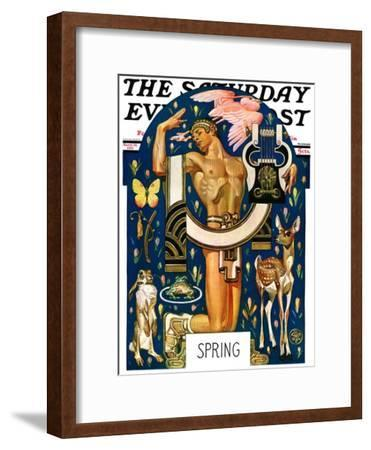 """Spring 1929,"" Saturday Evening Post Cover, March 30, 1929"
