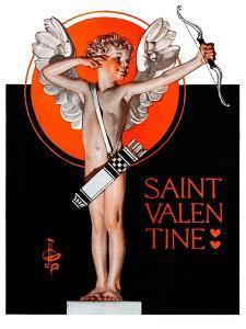"""St. Valentine, 1924,""February 16, 1924 by Joseph Christian Leyendecker"