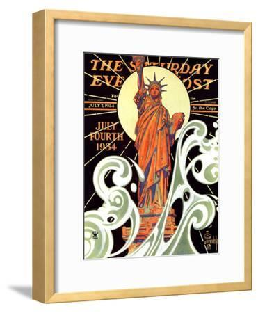 """Statue of Liberty,"" Saturday Evening Post Cover, July 7, 1934"