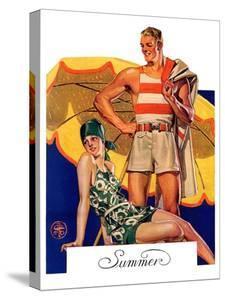 """Summertime, 1927,""August 27, 1927 by Joseph Christian Leyendecker"