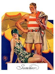 """Summertime, 1927,""August 27, 1927 by Joseph Christian Leyendecker"
