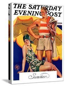 """Summertime, 1927,"" Saturday Evening Post Cover, August 27, 1927 by Joseph Christian Leyendecker"