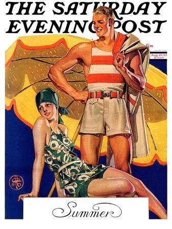 """Summertime, 1927,"" Saturday Evening Post Cover, August 27, 1927"