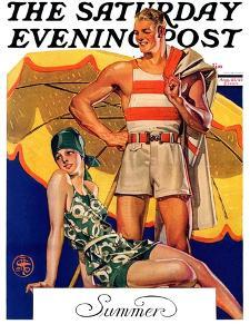 """Summertime, 1927,"" Saturday Evening Post Cover, August 27, 1927 by Joseph Christian Leyendecker"
