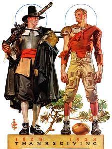 """Thanksgiving, 1628/1928,""November 24, 1928 by Joseph Christian Leyendecker"