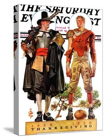 """Thanksgiving, 1628/1928,"" Saturday Evening Post Cover, November 24, 1928"