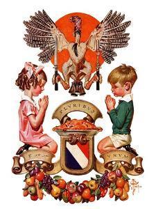 """Thanksgiving Crest,""November 26, 1932 by Joseph Christian Leyendecker"