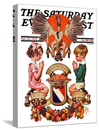 """""""Thanksgiving Crest,"""" Saturday Evening Post Cover, November 26, 1932"""