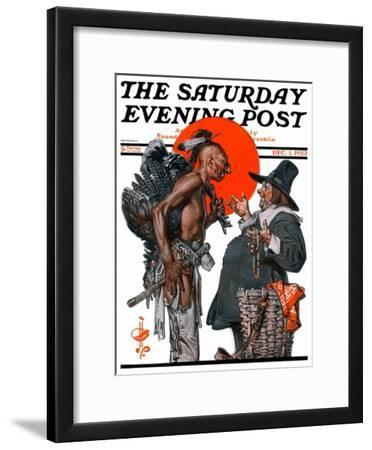 """Trading for a Turkey,"" Saturday Evening Post Cover, December 1, 1923"
