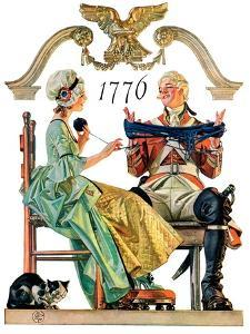 """Truce,""July 4, 1931 by Joseph Christian Leyendecker"