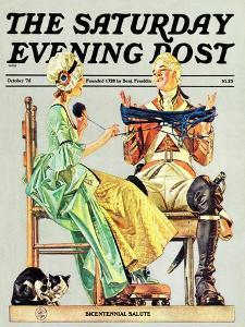 """""""Truce,"""" Saturday Evening Post Cover, October 1, 1975 by Joseph Christian Leyendecker"""