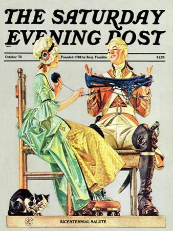 """""""Truce,"""" Saturday Evening Post Cover, October 1, 1975"""