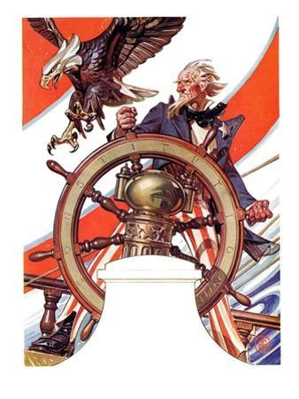 """Uncle Sam at the Helm,""July 4, 1936"