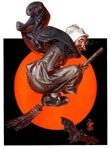 """""""Witches Night Out,""""October 27, 1923 by Joseph Christian Leyendecker"""