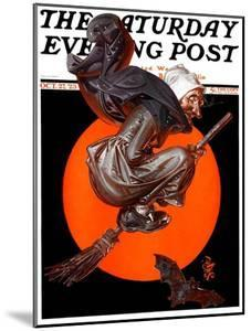 """""""Witches Night Out,"""" Saturday Evening Post Cover, October 27, 1923 by Joseph Christian Leyendecker"""