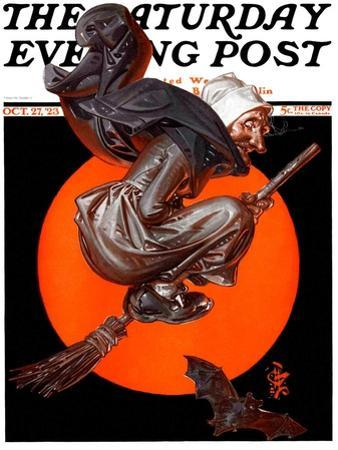 """Witches Night Out,"" Saturday Evening Post Cover, October 27, 1923"