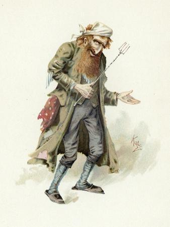 Fagin, Illustration from 'Character Sketches from Charles Dickens', C.1890 (Colour Litho)